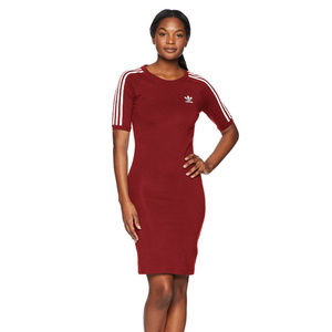 Adidas Originals 3 Stripe Dress Bodycon Stretch